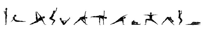 Yogafont Font UPPERCASE