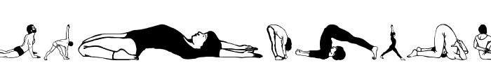 Yogaism Font UPPERCASE