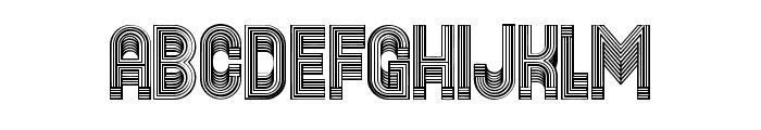 Yogurt Linear Regular Font UPPERCASE