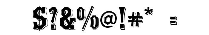 Yorktown Font OTHER CHARS