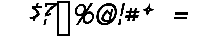 Yoshitoshi Italic Font OTHER CHARS