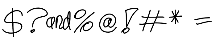 YouMeAndCoffee Font OTHER CHARS