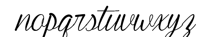 Young & Beautiful Font LOWERCASE