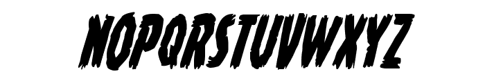 Young Frankenstein Condensed Italic Font UPPERCASE