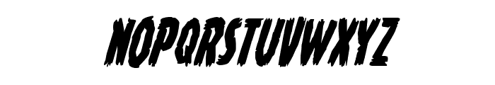 Young Frankenstein Condensed Italic Font LOWERCASE