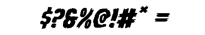Young Frankenstein Expanded Italic Font OTHER CHARS