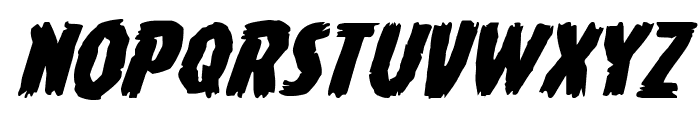 Young Frankenstein Expanded Italic Font UPPERCASE