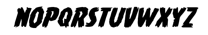 Young Frankenstein Expanded Italic Font LOWERCASE