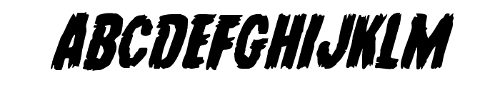 Young Frankenstein Italic Font UPPERCASE