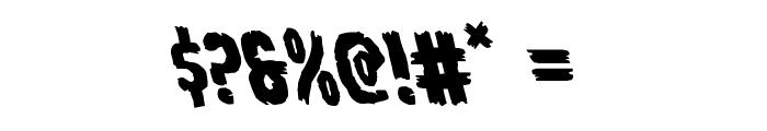 Young Frankenstein Leftalic Font OTHER CHARS