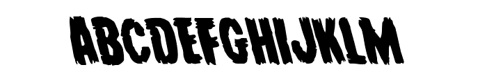 Young Frankenstein Leftalic Font LOWERCASE