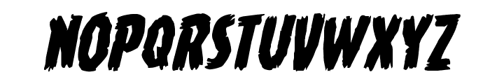 Young Frankenstein Rotalic Font UPPERCASE