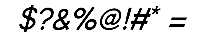Young Italic Font OTHER CHARS