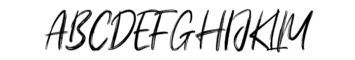Young Robust Font UPPERCASE