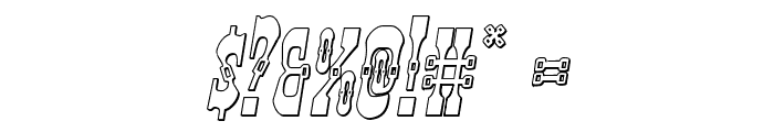 Younger Brothers 3D Italic Font OTHER CHARS