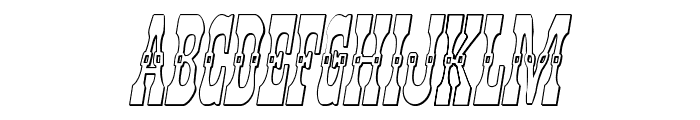 Younger Brothers 3D Italic Font UPPERCASE