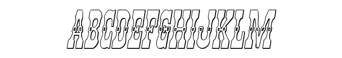 Younger Brothers 3D Italic Font LOWERCASE
