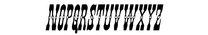 Younger Brothers Condensed Italic Font UPPERCASE