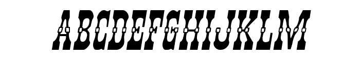 Younger Brothers Expanded Italic Font LOWERCASE