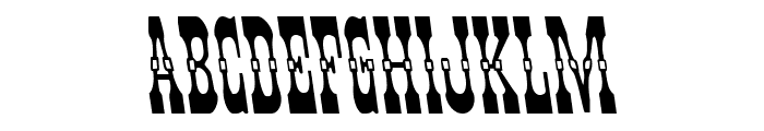 Younger Brothers Leftalic Font UPPERCASE