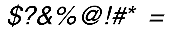 Yoxall Italic Font OTHER CHARS