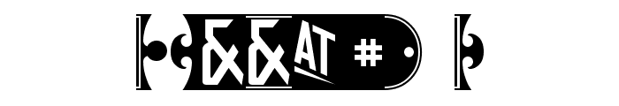 yorkwhiteletter Font OTHER CHARS