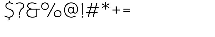 Yorkten Ext Thin Font OTHER CHARS