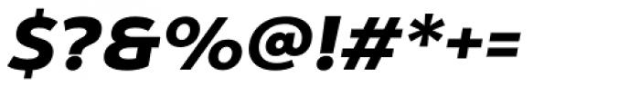 Yorkten Extended Black Italic Font OTHER CHARS