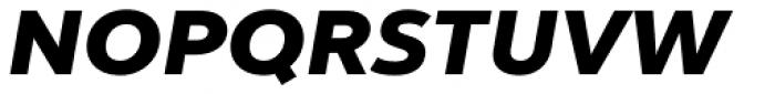 Yorkten Extended Black Italic Font UPPERCASE