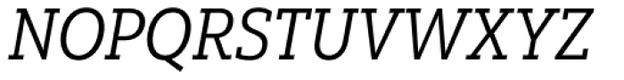 Yorkten Slab Condensed Regular Italic Font UPPERCASE