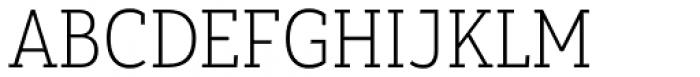 Yorkten Slab Condensed Thin Font UPPERCASE