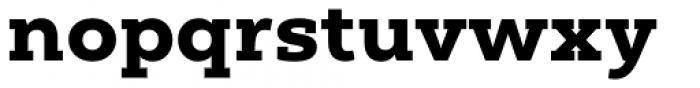 Yorkten Slab Extended Black Font LOWERCASE