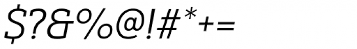 Yorkten Slab Extended Book Italic Font OTHER CHARS