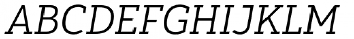 Yorkten Slab Extended Book Italic Font UPPERCASE