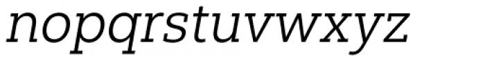 Yorkten Slab Extended Book Italic Font LOWERCASE