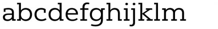 Yorkten Slab Extended Regular Font LOWERCASE