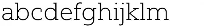 Yorkten Slab Extended Thin Font LOWERCASE