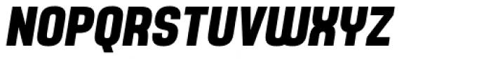 Yoshida Sans Bold Condensed Italic Font UPPERCASE