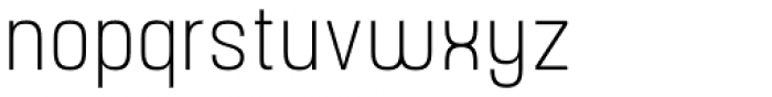 Yoshida Sans Ultra Light Condensed Font LOWERCASE