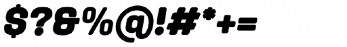 Yoshida Soft Black Italic Font OTHER CHARS