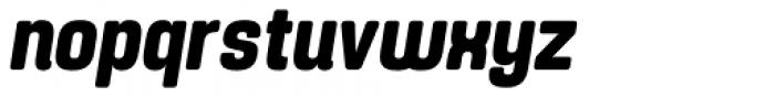 Yoshida Soft Bold Condensed Italic Font LOWERCASE