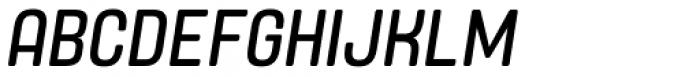 Yoshida Soft Condensed Italic Font UPPERCASE