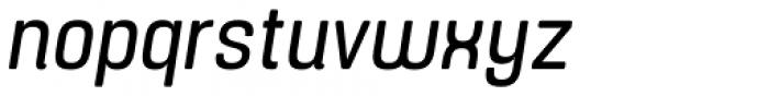Yoshida Soft Condensed Italic Font LOWERCASE