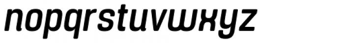 Yoshida Soft Medium Condensed Italic Font LOWERCASE