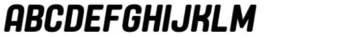 Yoshida Soft Semi Bold Condensed Italic Font UPPERCASE