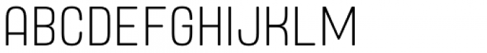 Yoshida Soft Ultra Light Condensed Font UPPERCASE