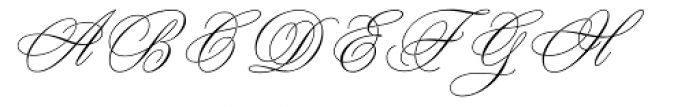 Young Baroque Font UPPERCASE