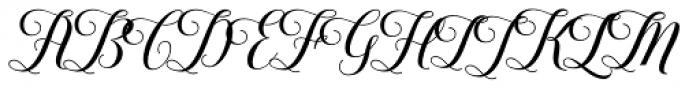 Youra Script Regular Font UPPERCASE