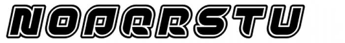 Yr72 Inline Italic Font UPPERCASE