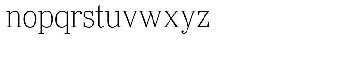 Ysobel Display Thin Font LOWERCASE